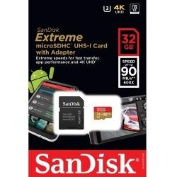 Memoria Micro Sd Sandisk Extreme 32gb 90mb/s & 60mb/s V30 (Entrega Inmediata)