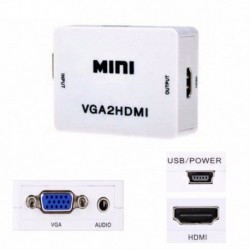 Convertidor Adaptador Vga A Hdmi + Audio - Pc Y Portatiles (Entrega Inmediata)