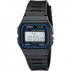 Reloj Casio F91W-1 Classic Resin Strap Digital Sport  (Importación USA)