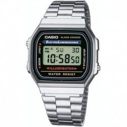 Reloj Hombre Casio Vintage A168WA-1 Electro Luminescence  (Importación USA)