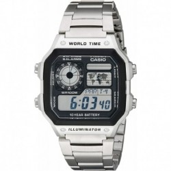 Reloj Hombre Casio AE1200WHD-1A Stainless Steel Digital  (Importación USA)