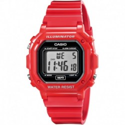 Reloj Casio Unisex F-108WHC-4ACF Classic Red Resin Band (Importación USA)