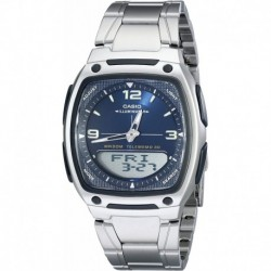 Reloj Hombre Casio AW81D-2AV Ana-Digi Stainless Steel  (Importación USA)
