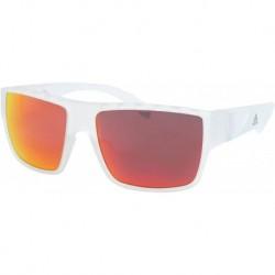 Gafas adidas SP0006 26G Hombre Crystal/Orange Mirror Lenses Rectangular 57mm