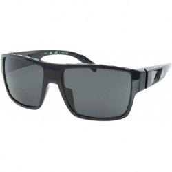 Gafas adidas SP0006 01A Hombre Shiny Black/Smoke Lenses Rectangular 57mm