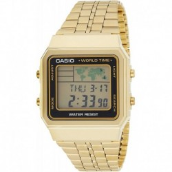 Reloj CASIO Digital World TIME A500WGA-1DF Stainless Steel  (Importación USA)