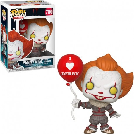 Figura Funko Pennywise Balloon Pop Movies Vinyl & 1 Compatible Graphic Protector Bundle 40630 B