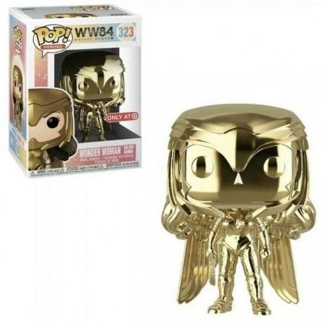 Figura Funko Pop! Heroes Wonder Mujer 1984 Golden Armor Gold Chrome Vinyl Target Exclusive 323