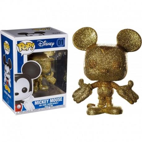 Figura Disney Funko Pop Disney Gold Diamond Glitter Mickey Mouse Collectible Multicolor