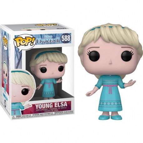 Figura Funko Young Elsa Fun?ko Pop! Vinyl & 1 Compatible Graphic Protector Bundle 588 40888 B