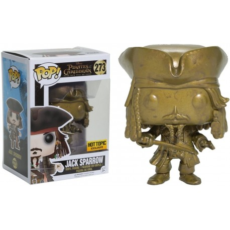 Figura Funko Jack Sparrow Hot Topic Exc Pop! Vinyl & 1 Compatible Graphic Protector Bundle 273 13842 B