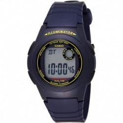 Reloj Hombre Casio F-200W-2B Blue Resin Digital LCD Sports (Importación USA)