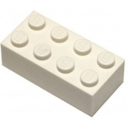 LEGO Parts and Pieces White 2x4 Brick x50