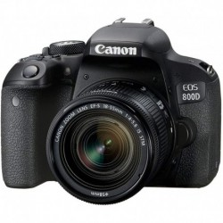 Camara Canon EOS 800D Digital SLR 18-55 is STM Lens Black International Model No Warranty