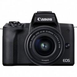 Camara Canon EOS M50 Mark II Black EF-M 15-45mm & 55-200mm is STM Bundle