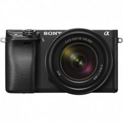 Camara Sony Alpha a6300 ILCE6300M/B 24.2 MP Mirrorless Digital Camera F3.5-5.6 OSS Zoom Lens E 18-135mm Black