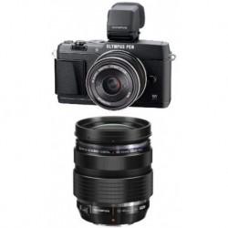 Camara Olympus E-P5 Black 17mm and 12-40mm Lens