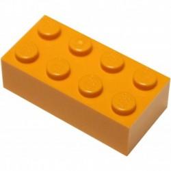 LEGO Parts and Pieces Orange Bright Orange 2x4 Brick x10