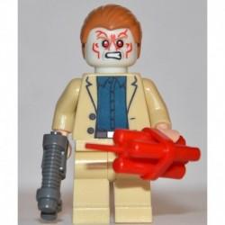 LEGO Super Heroes Iron Hombre 3 Aldrich Killian Minifigure Glow in the Dark Head Ray Gun and Dynamite