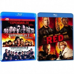 The Expendables 1-3 and Red 4 Movie Action Blu-ray Collection