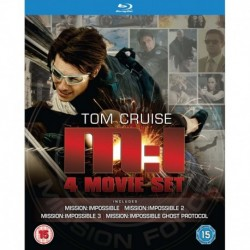 Mission Impossible Quadrilogy Blu-ray Four Movie Set Includes Ghost Protocol