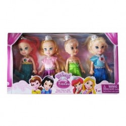 Set X 4 Princesas Muñecas My Sweet Fashion Beatiful 8066 (Entrega Inmediata)