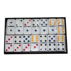 Domino X 28 Fichas Juego De Mesa Familiar En Colores 8163 (Entrega Inmediata)