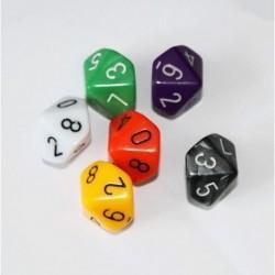 Juego Dados 10 Caras X6 Und Dados Juegos De Rol Mesa Casino (Entrega Inmediata)