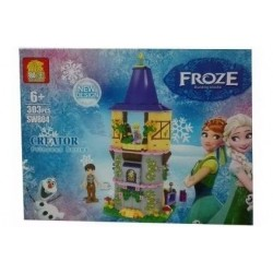 Fichas Frozen Piezas Armable Bloques Castillo Sw804 (Entrega Inmediata)