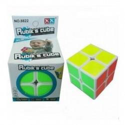 Cubo Rubik 2x2 Juego Mental 8822 Base Blanca Bordes (Entrega Inmediata)