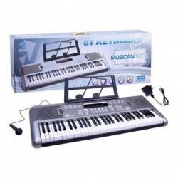 Organeta Piano Teclado 61 Teclas Con Micrófono / Sd-6118 (Entrega Inmediata)