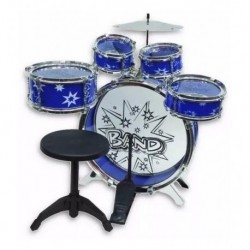 Batería Musical Big Band 8 Piezas Azul Niños 28832 (Entrega Inmediata)