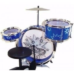 Bateria Musical Big Band 3 Piezas 28843 Niños Azul (Entrega Inmediata)