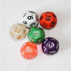 Juegos Rol Dados 12 Caras X6 Und Dado Casino Poliédrico (Entrega Inmediata)