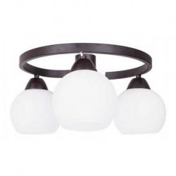 Lámpara De Techo Vidrio Chocolate 3 Luces E27 (Entrega Inmediata)