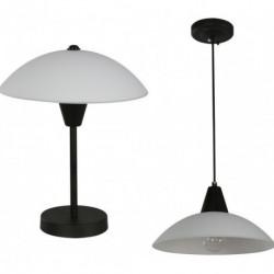 Lámpara De Techo Y Mesa Color Negro Y Blanco 1 Luz E27 40w (Entrega Inmediata)