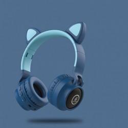 Diadema Inalambrica Orejas De Gato Luces Led Blu Bluetooth 5 (Entrega Inmediata)
