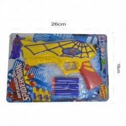 Pistola De Dardos De Espuma Blister Spiderman Juguete Niños (Entrega Inmediata)