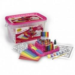 Fabuloso Kit Arte Crayola Exclusivo Rosa 100 Piezas Envioya (Entrega Inmediata)