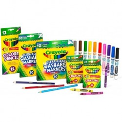 Kit De Arte Crayola Colores Marcadores 80 Piezas Envioya (Entrega Inmediata)