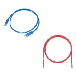 Patch Cord Powest Cat 6a 3 Mtrs Rojo / Azul (Entrega Inmediata)