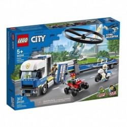 Lego City Policía: Camión De Transporte Del Helicóptero (Entrega Inmediata)