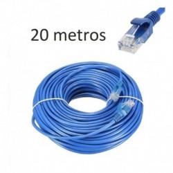 Cable De Red Certificado Patch Cord 20mt Cat5e Rj45 Cctv @pd (Entrega Inmediata)