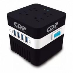 Regulador De Voltaje Cdp Ru-avr 604, 600va / 4 Tomas / 4 Usb (Entrega Inmediata)