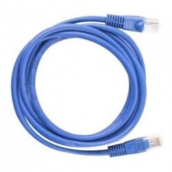 Cable De Red Patch Cord Cat 6 60 Cm Azul Original De Fabrica (Entrega Inmediata)