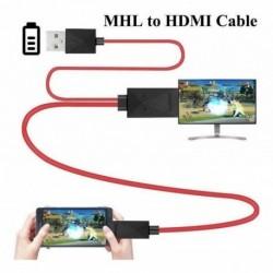 Mhl Usb Hdmi 5 Y 11 Pines Micro Hdmi 1080p Para Tv En Hd (Entrega Inmediata)