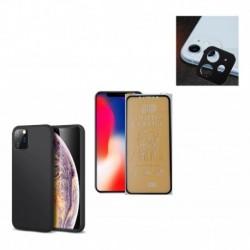 Kit Protector Funda Case iPhone 11 + Irrompible + P Lente (Entrega Inmediata)