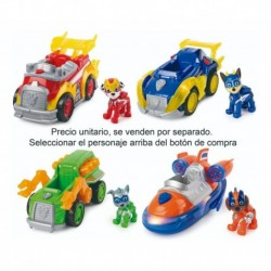 Vehículo Con Figura Paw Patrol Mighty Pups Carro Luz Sonidos (Entrega Inmediata)
