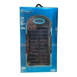 Cargador Power Bank Panel Solar 12000mah Bateria Y Linterna (Entrega Inmediata)
