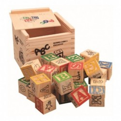 Cubos Bloques Madera Letras Números Juguete Didáctico 27 Pcs (Entrega Inmediata)